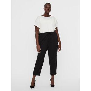 Vero Moda Curve Kalhoty se sklady v pase  černá