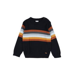 Hust & Claire Svetr 'Pelle'  tmavě modrá / bílá / tmavě oranžová / tmavě šedá / mix barev