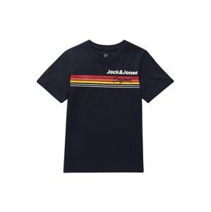 Jack & Jones Junior Tričko 'Venture'  žlutá / bílá / námořnická modř / červená