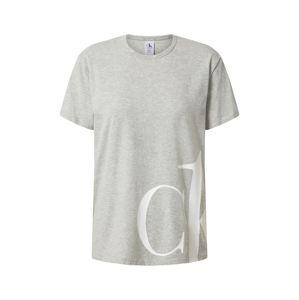 Calvin Klein Underwear Tričko na spaní  šedá / bílá