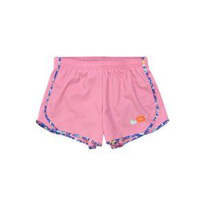 NIKE Sportovní kalhoty 'Tempo'  světle růžová / námořnická modř / tmavě oranžová / tyrkysová / mix barev