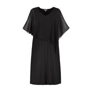 Ulla Popken Koktejlové šaty 'Chiffon'  černá