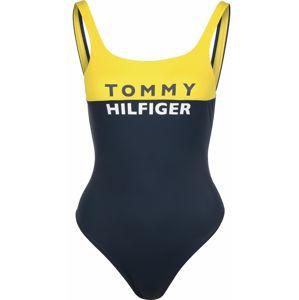 TOMMY HILFIGER Plavky  tmavě modrá / bílá / žlutá