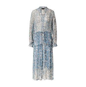 SAND COPENHAGEN Šaty 'Rayne'  modrá / bílá / hnědá