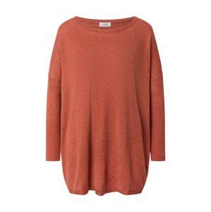 JACQUELINE de YONG Maxi svetr 'Zoe'  oranžově červená