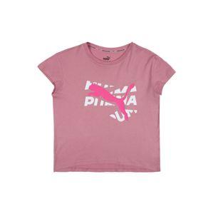 PUMA Funkční tričko  světle fialová / pink / bílá