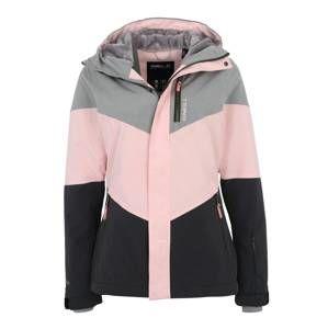 O'NEILL Outdoorová bunda 'Coral'  šedá / růžová / černá