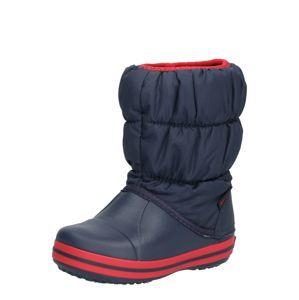 Crocs Sněhule 'Winter Puff Boot Kids'  námořnická modř / červená
