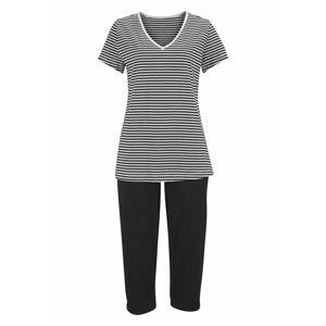 H.I.S Pyžamo  černá / bílá