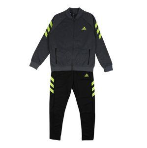 ADIDAS PERFORMANCE Sportovní oblečení  černá / šedá / svítivě žlutá
