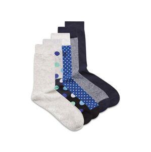JACK & JONES Ponožky  šedý melír / tmavě modrá / modrá / azurová modrá