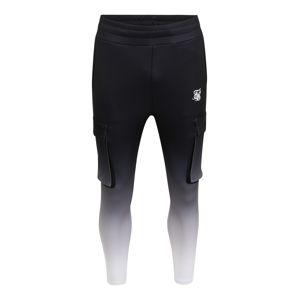 SikSilk Kalhoty  bílá / černá