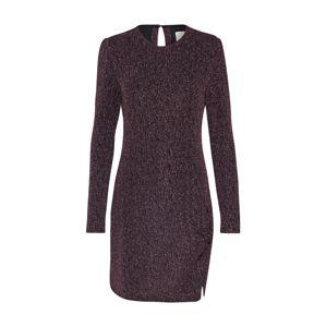 MINKPINK Společenské šaty 'LUREX'  tmavě fialová / černá