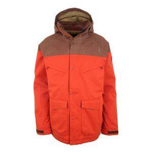 BURTON Outdoorová bunda 'BREACH'  hnědá / červená