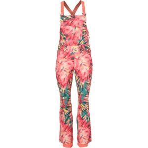 O'NEILL Sportovní kalhoty 'PW SHRED BIB PANTS'  zelená / pink