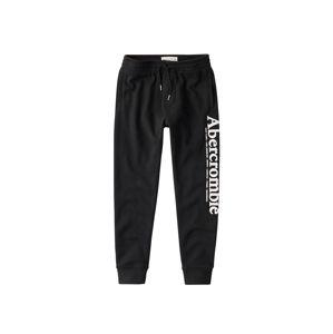 Abercrombie & Fitch Kalhoty 'LOGO JOGGER'  černá