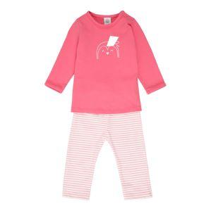 SANETTA Pyžamo  pink / bílá / starorůžová