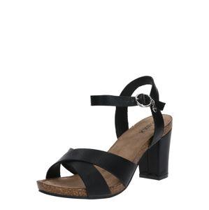 MEXX Páskové sandály 'Elhin'  černá