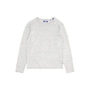 Jack & Jones Junior Svetr 'JJEUNION KNIT CREW NECK JUNIOR'  šedý melír
