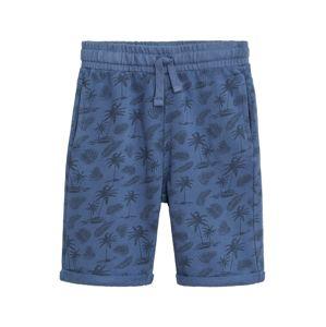 MANGO KIDS Kalhoty  modrá / noční modrá