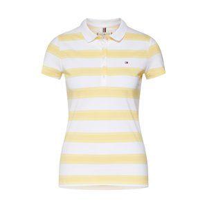 TOMMY HILFIGER Tričko 'Chiara'  žlutá / bílá