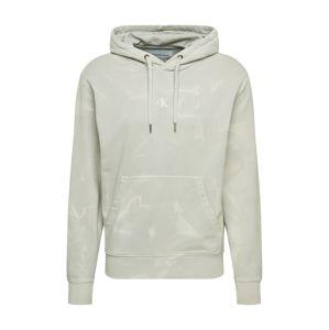 Calvin Klein Jeans Mikina 'LAVA DYE'  světle šedá