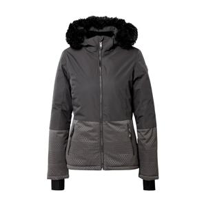 KILLTEC Outdoorová bunda 'Kirstin'  černá / šedá