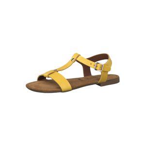 TAMARIS Sandale  žlutá