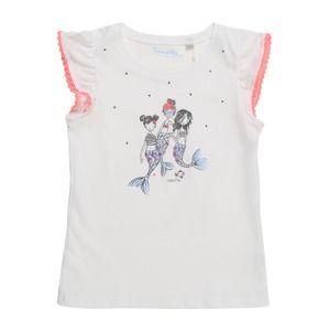 Sanetta Kidswear Tričko  korálová / bílá