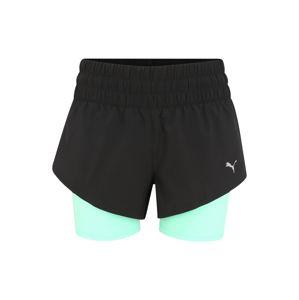 PUMA Sporthose 'Last Lap 2in1'  světle zelená / černá