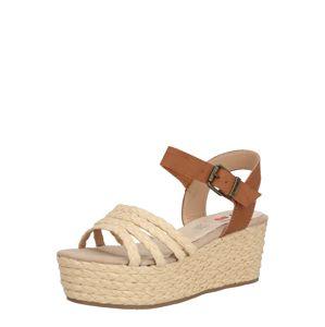 MTNG Páskové sandály 'NEW SOCOTRA'  hnědá / písková