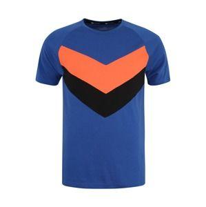 PUMA Funkční tričko 'Reactive Color Block Tee'  královská modrá / oranžová / černá