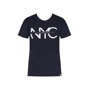 Superdry Tričko 'NYC SPLIT PORTLAND TEE'  černá