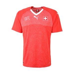 PUMA Funkční tričko 'Suisse Home Replica'  červená / bílá