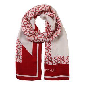 Calvin Klein Šála 'GEO QUILT'  červená / bílá