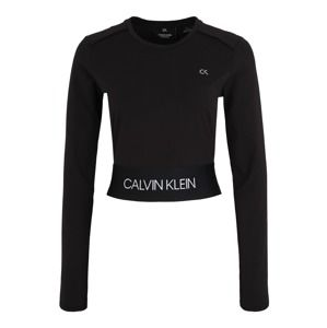 Calvin Klein Performance Funkční tričko 'LONG SLEEVE TEE'  černá