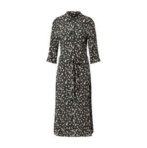 OBJECT Košilové šaty 'OBJNELLE 3/4 LONG SHIRT DRESS PB8'  tmavě zelená