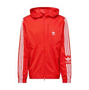 ADIDAS ORIGINALS Přechodná bunda 'Lcok UP'  červená / bílá