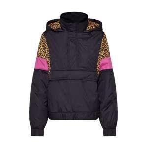 Urban Classics Přechodná bunda  pink / černá