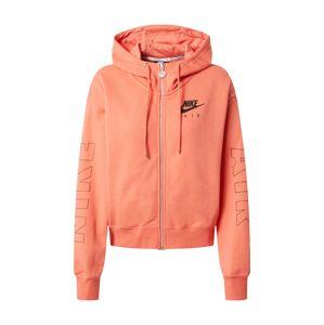 Nike Sportswear Mikina s kapucí 'AIR'  starorůžová / černá