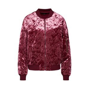 Juicy Couture Black Label Přechodná bunda 'Crushed Velour Quilted Bomber Jacket'  vínově červená
