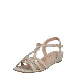 Dorothy Perkins Páskové sandály 'ROCKET'  zlatá