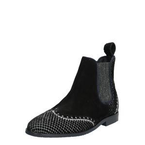 MELVIN & HAMILTON Chelsea boty 'Giulia 2'  černá / stříbrná / bílá