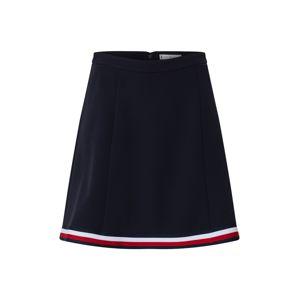 TOMMY HILFIGER Sukně 'Angela'  bílá / červená / kobaltová modř