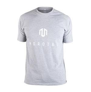 MOROTAI Funkční tričko 'Brand Basic'  světle šedá / bílá