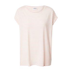 VERO MODA Tričko  bílá / růžová