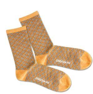 DillySocks Ponožky 'Sweet Wire'  béžová / stříbrná