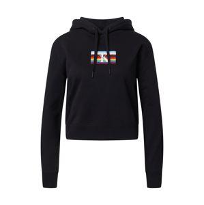Calvin Klein Jeans Mikina 'SMALL FLAG BOXY HOODIE'  černá