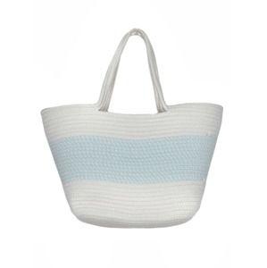 Zwillingsherz Plážová taška 'Ostsee'  světlemodrá / bílá