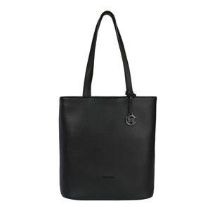 COMMA Nákupní taška 'I´M A REBEL Shopper LVO'  černá
